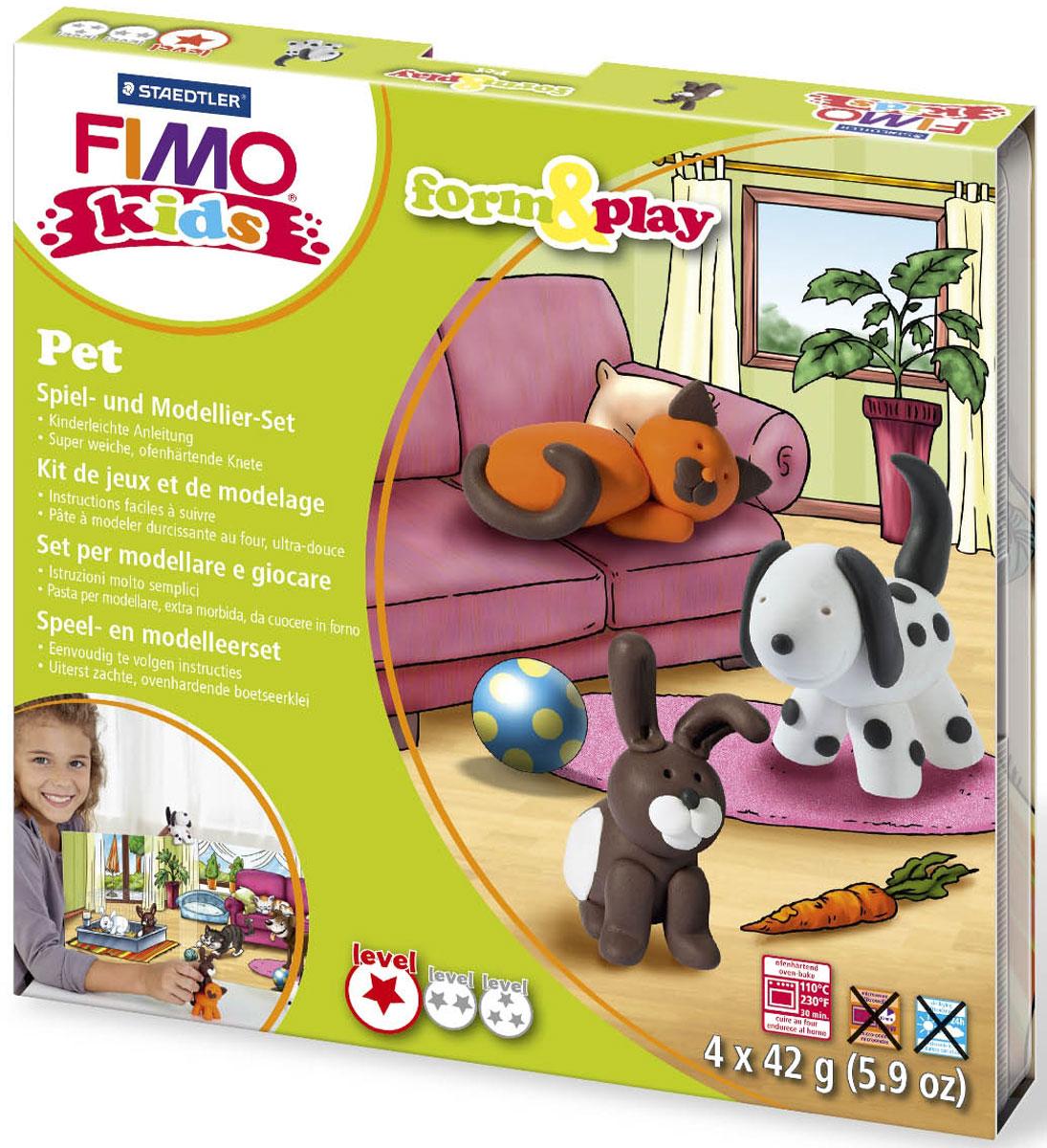 Fimo Kids Набор для лепки Form & Play Домашний любимец