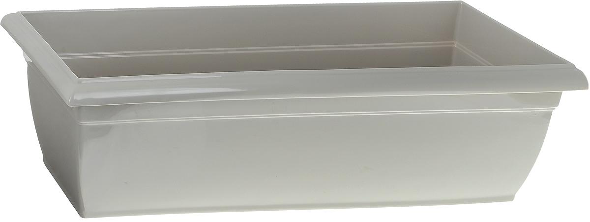 Фото - Ящик балконный Santino, цвет: песочный, 58,5 х 18 х 15 см вазон балконный с подставкой алеана дама 100 х 18 см терракотовый