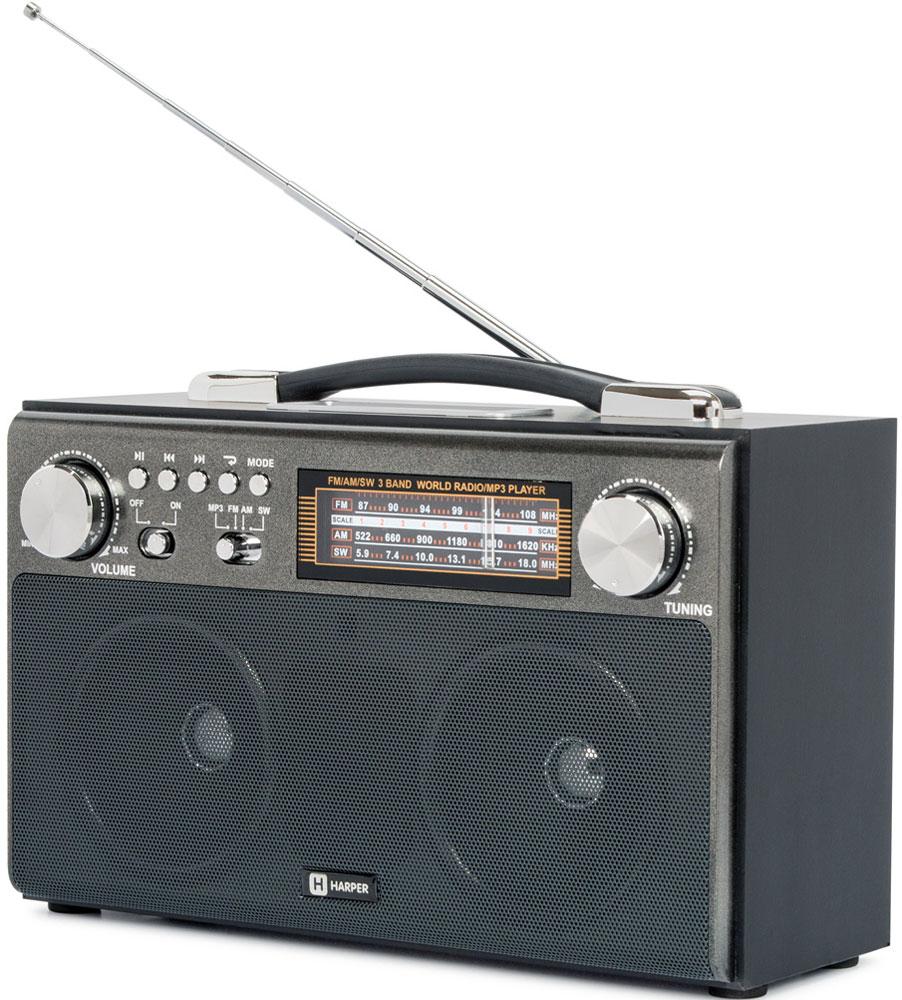 Радиоприемник Harper HDRS-033, Black цена в Москве и Питере