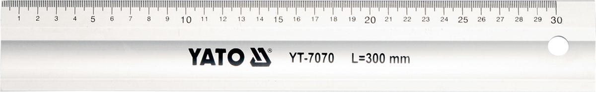 Линейка алюминиевая Yato, 300 мм