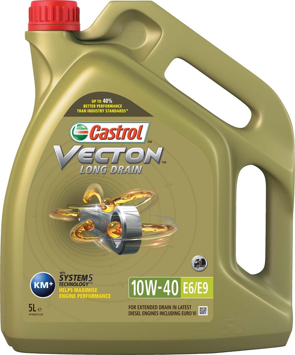 "Масло моторное Castrol ""Vecton Long Drain"", синтетическое, класс вязкости 10W-40, E6/E9, 5 л"