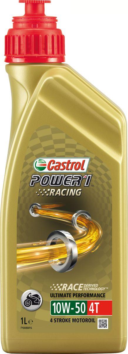 """Масло моторное Castrol """"Power 1 Racing"""", синтетическое, 4T 10W-50, 1 л"""