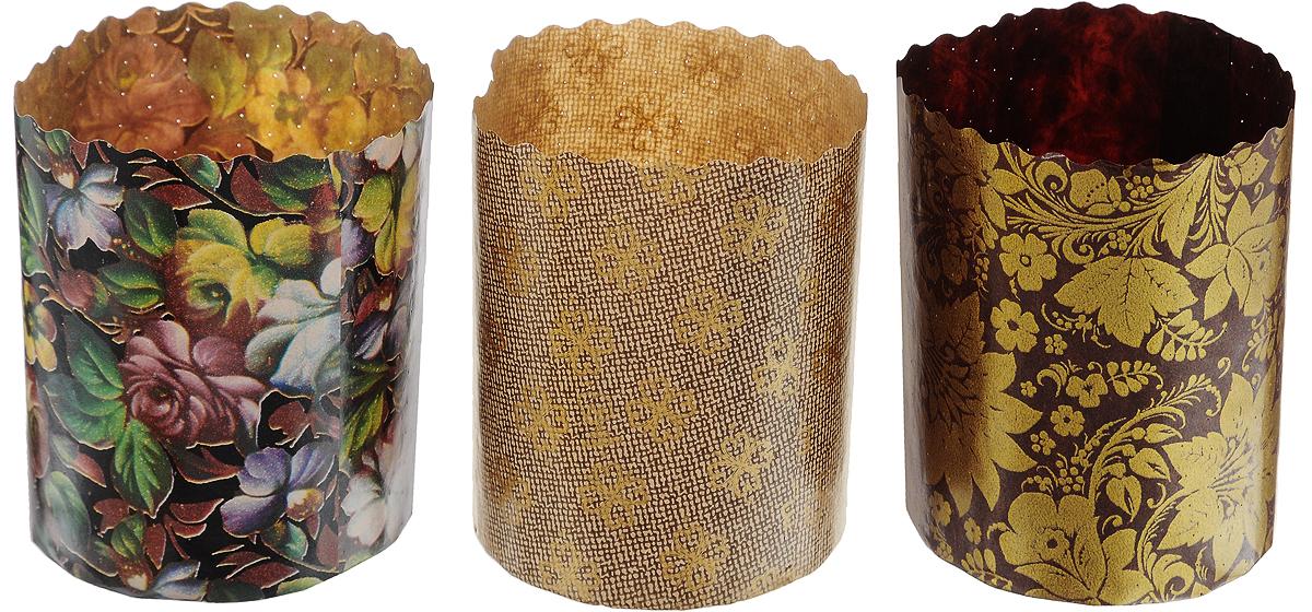 Набор форм для выпечки куличей Marmiton Пасхальный, 3 шт набор форм для выпечки печенья marmiton цветочки 16181