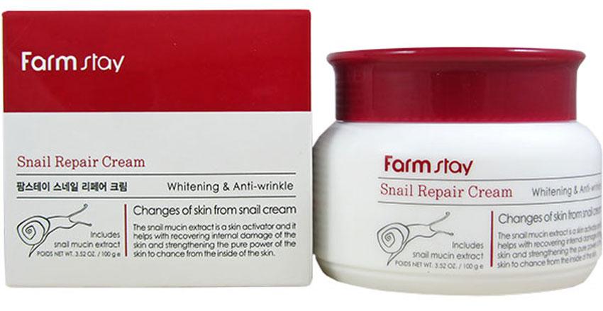 FarmStay Восстанавливающий крем с экстрактом улитки, 100 мл крем bb с экстрактом муцина missha super aqua cell renew snail bb cream