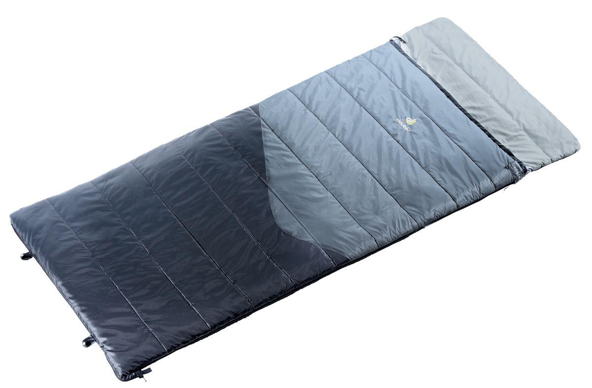 Спальный мешок Deuter Space II, цвет: серый, черный, правая молния