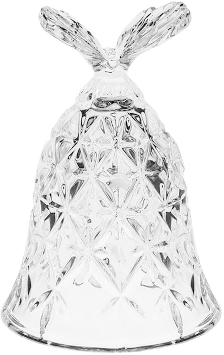 Фигурка декоративная Crystal Bohemia Колокольчик. Бабочка, высота 12 см920/13110/0/65400/120-109Декоративная фигурка Crystal Bohemia Колокольчик. Бабочка, выполнена из настоящего чешского хрусталя с содержанием оксида свинца 24%, что придает изделиям поразительную прозрачность и чистоту, невероятный блеск, присущий только ювелирным изделиям, особое, ни с чем не сравнимое светопреломление и игру всеми красками спектра как при естественном, так и при искусственном освещении. Такая фигурка отлично украсит интерьер любого помещения. Колокольчик издает приятный мелодичный звон. Высота: 12 см.