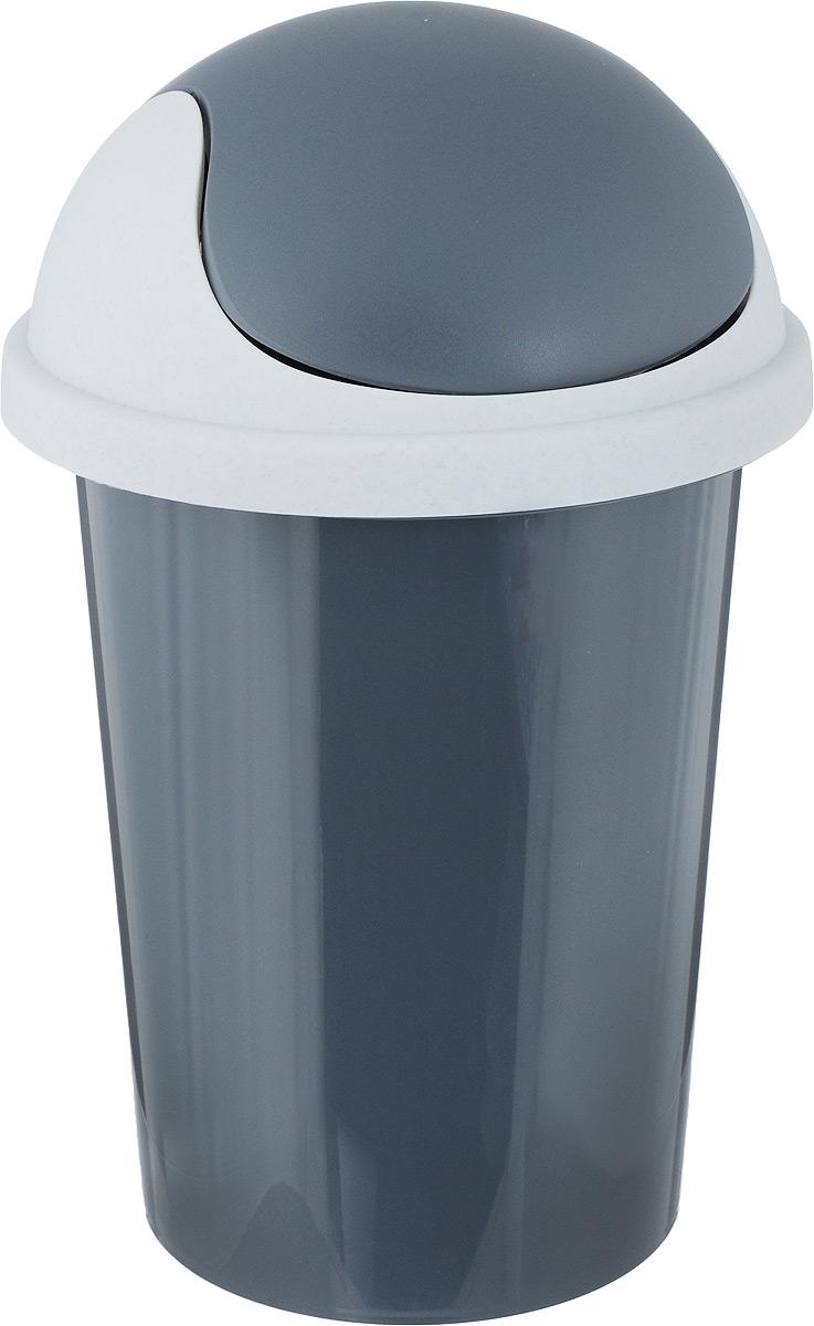 Контейнер для мусора Plastic Centre, цвет: темно-серый, 10 л контейнер для мусора plastic centre цвет бежевый коричневый 7 л
