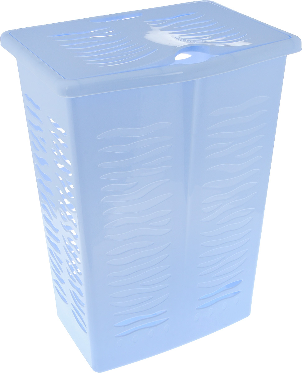 Корзина для белья BranQ Aqua, цвет: голубой, 42 л корзина для белья 3 sprouts orange orangutan