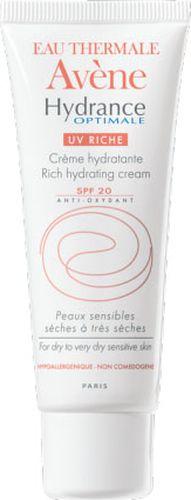 Avene Крем увлажняющий защищающий Hydrance ОПТИМАЛЬ UV20 РИШ для сухой кожи лица 40 мл набор гидранс оптималь риш увлажняющий крем 40 мл очищающая пенка 50 мл avene hydrance