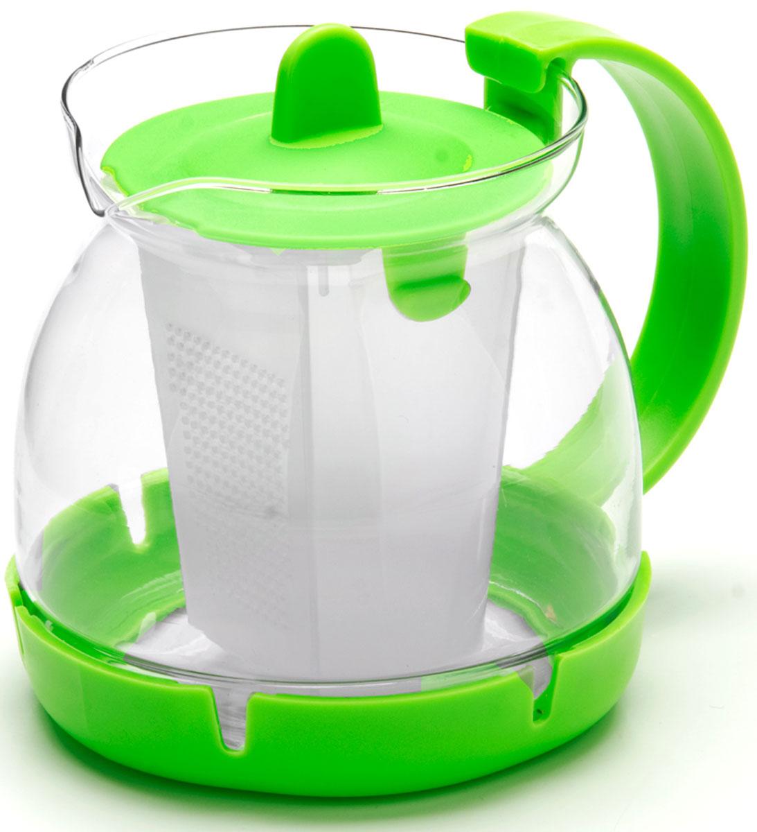 Чайник заварочный Mayer & Boch, с фильтром, 0,8 л. 26175-326175-3Заварочный чайник изготовлен из термостойкого боросиликатного стекла, фильтр выполнены из полипропилена. Изделия из стекла не впитывают запахи, благодаря чему вы всегда получите натуральный, насыщенный вкус и аромат напитков. Фильтр гарантирует прозрачность и чистоту напитка от чайных листьев, при этом сохранив букет и насыщенность чая. Подходит для мытья в посудомоечной машине. Объем чайника: 800 мл.