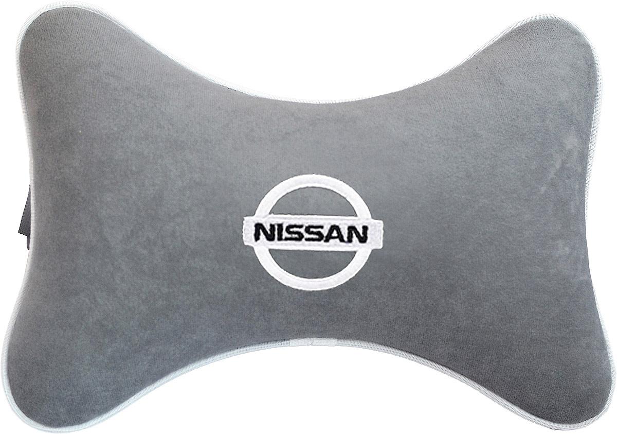 Подушка на подголовник Auto Premium Nissan, цвет: серый. 37443 подушка на подголовник auto premium nissan цвет бежевый 37583