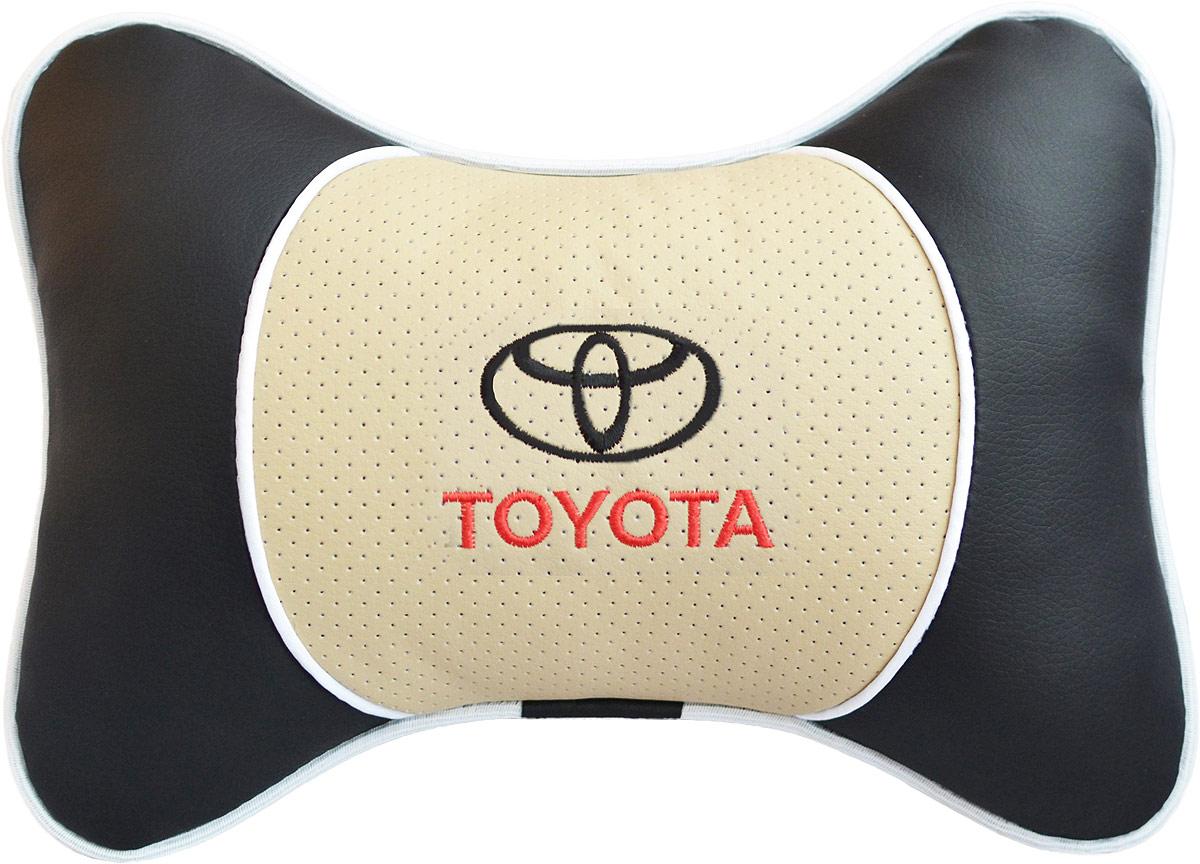 Подушка на подголовник Auto Premium Toyota, цвет: бежевый. 37589 подушка на подголовник auto premium nissan цвет бежевый 37583