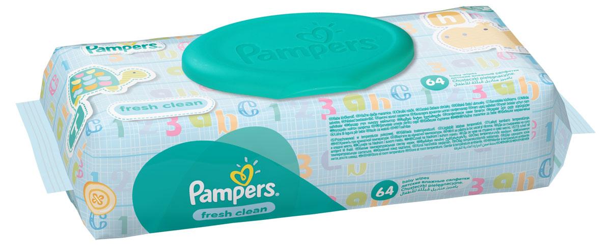 Pampers Детские влажные салфетки Baby Fresh Clean 64 шт
