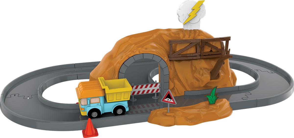 Robocar Poli Игрушечный трек Пещера с камнями с металлической машинкой Дампи игровой набор silverlit robocar poli средний трек с умной машинкой 83282