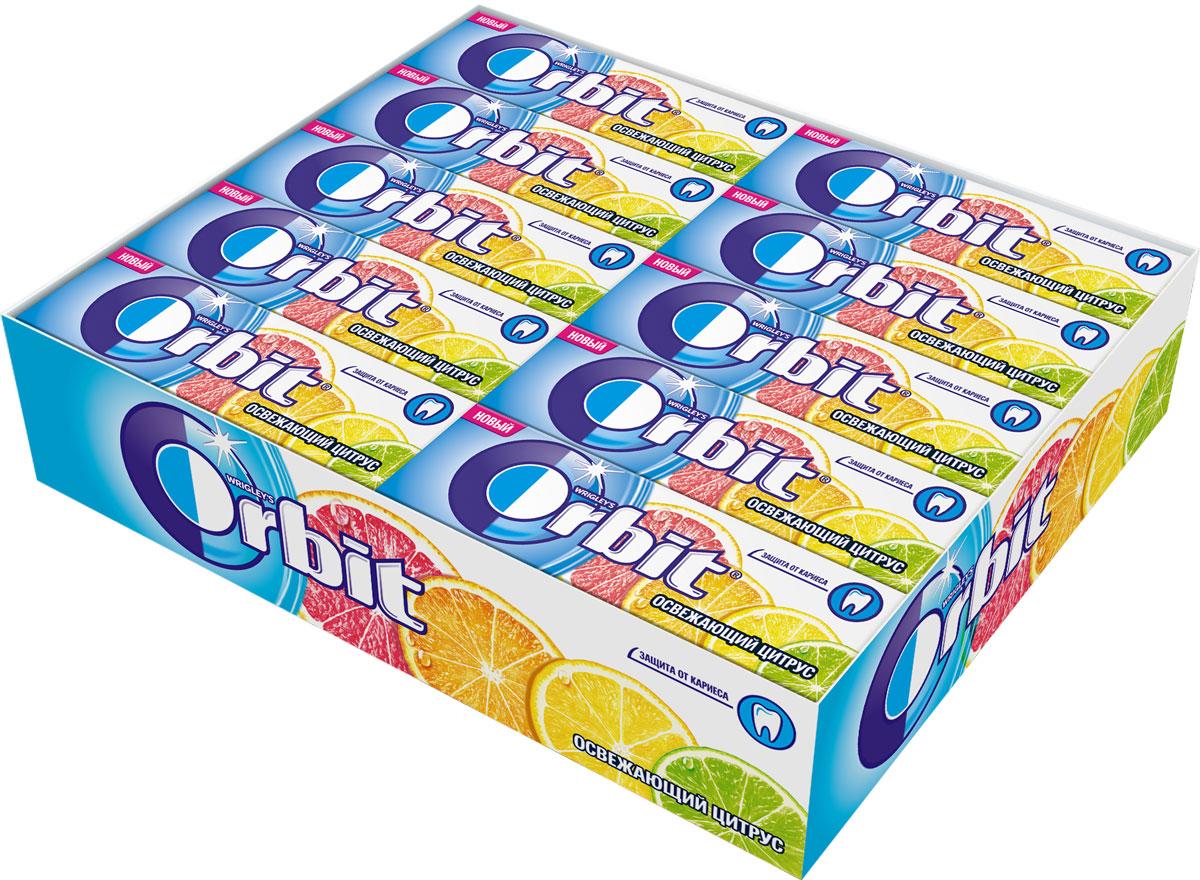 Orbit Освежающий Цитрус жевательная резинка без сахара, 30 пачек по 13,6 г цена