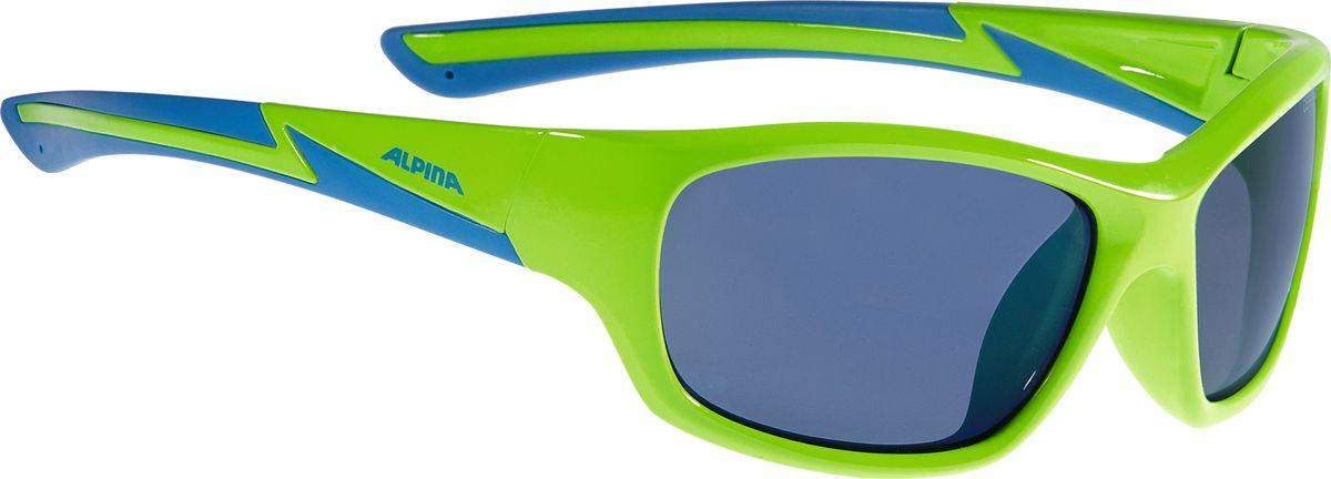 Очки солнцезащитные Alpina Flexxy Youth, детские, цвет: салатовый, синий. A8564371 alpina очки солнцезащитные flexxy kids alpina
