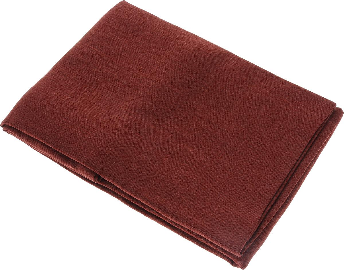 Скатерть Гаврилов-Ямский Лен, прямоугольная, цвет: бордовый, 150 x 250 см capri одежда из льна