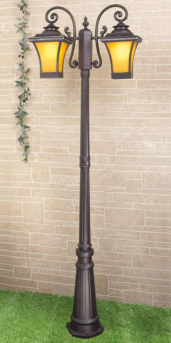 Садово-парковый светильник Elektrostandard Libra F/2 венге 4690389064753 фонарный столб libra f 2 венге арт glxt 1408f 2