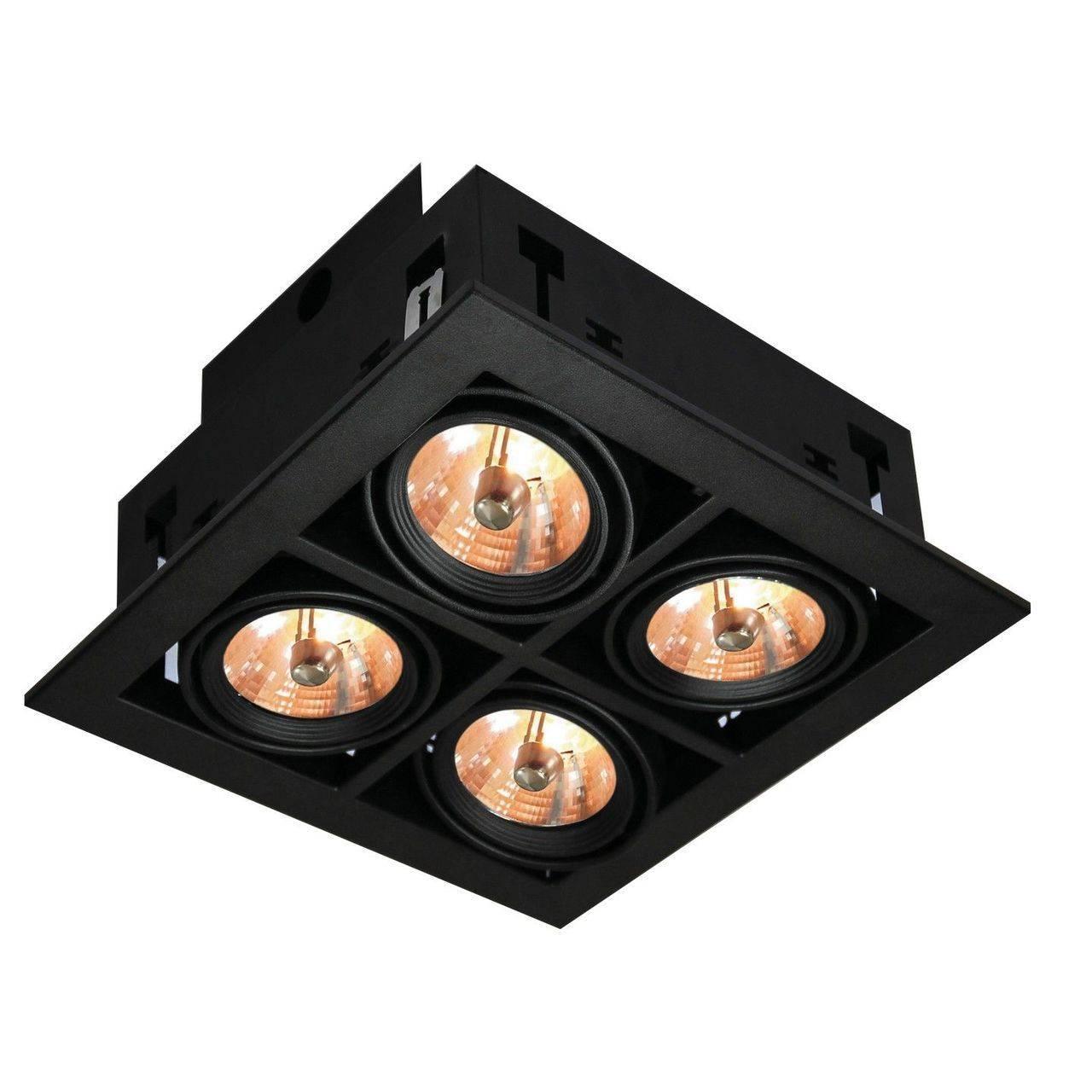 Встраиваемый светильник Arte Lamp Cardani A5930PL-4BK arte lamp a4402pl 4bk