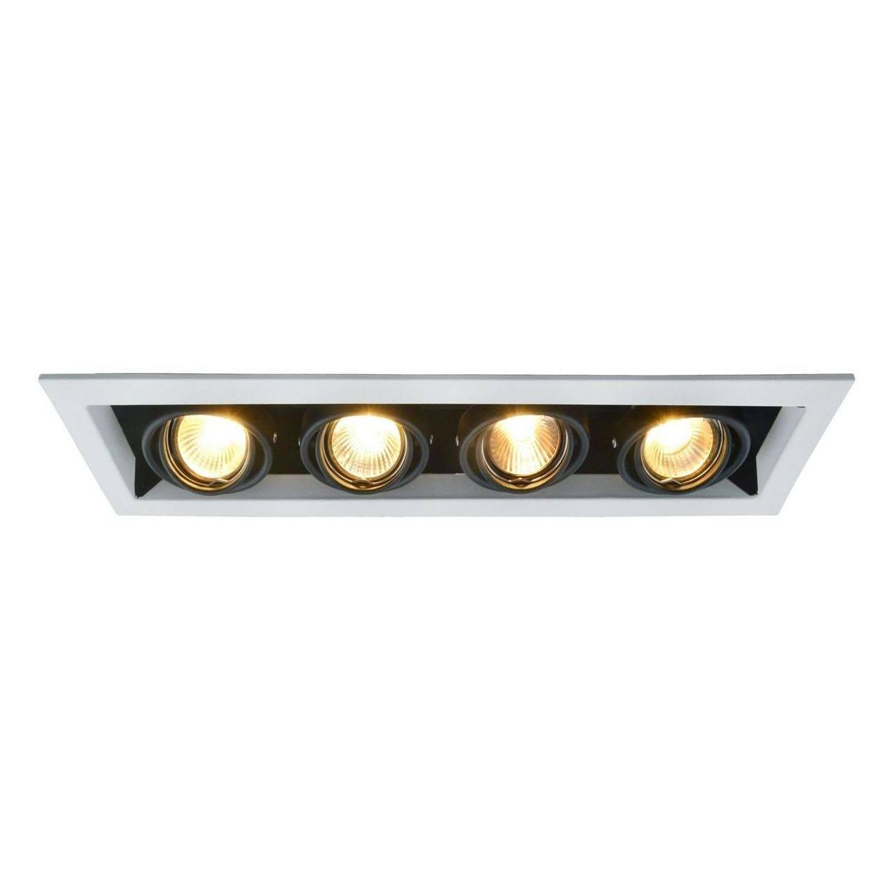 Встраиваемый светильник Arte Lamp, GU10, 200 Вт arte lamp встраиваемый светильник arte lamp cardani white a5941pl 4wh