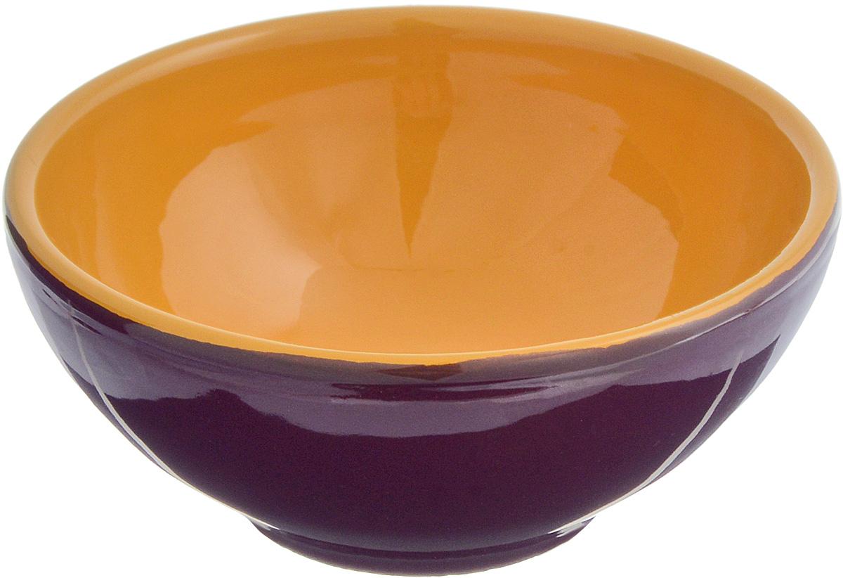 Розетка для варенья Борисовская керамика Радуга, цвет: темно-фиолетовый, светло-коричневый, 200 мл розетка для варенья борисовская керамика радуга цвет голубой 200 мл