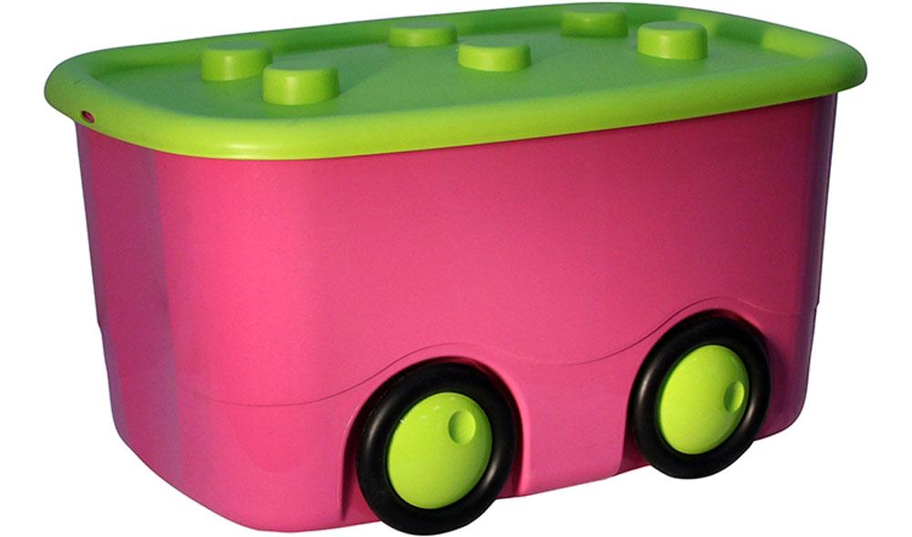 Idea Ящик для игрушек Моби цвет малиновый 41,5 х 60 32 см Уцененный товар (№13)