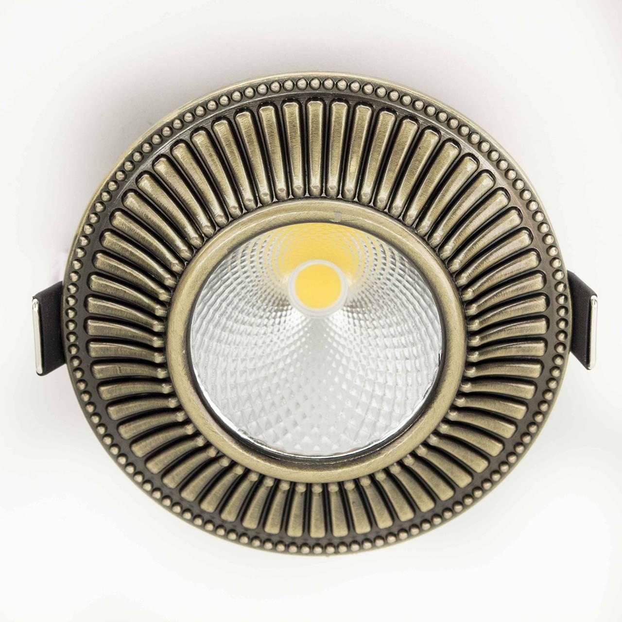 Встраиваемый светильник CITILUX, LED, 7 Вт встраиваемый светильник дзета cld042w3