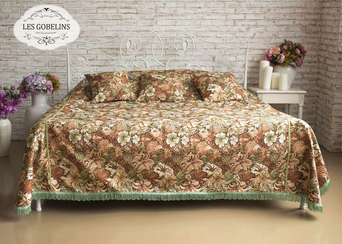 Покрывало на кровать Les Gobelins Art Nouveau Lily, 260 х 240 см покрывало на кресло les gobelins mexique 50 х 120 см