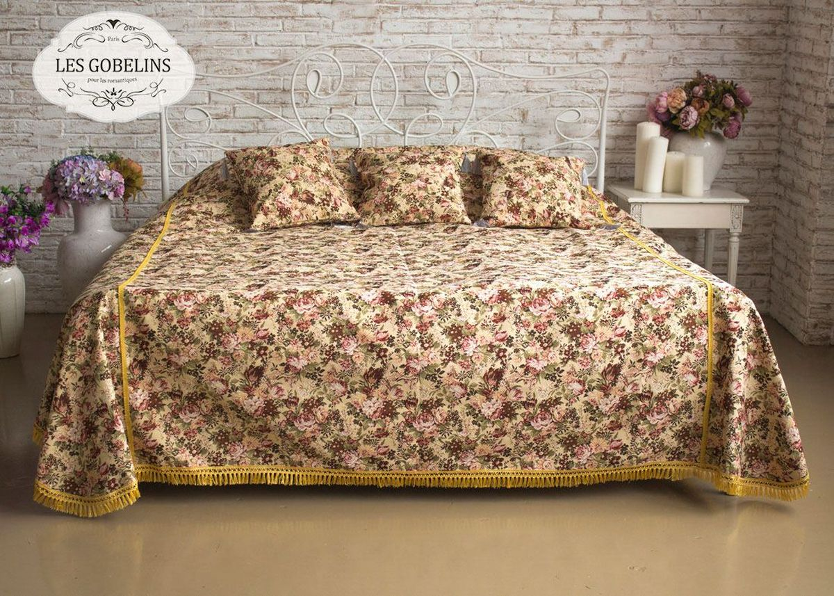 Покрывало на кровать Les Gobelins Bouquet Francais, 150 х 220 см покрывало на кресло les gobelins mexique 50 х 120 см