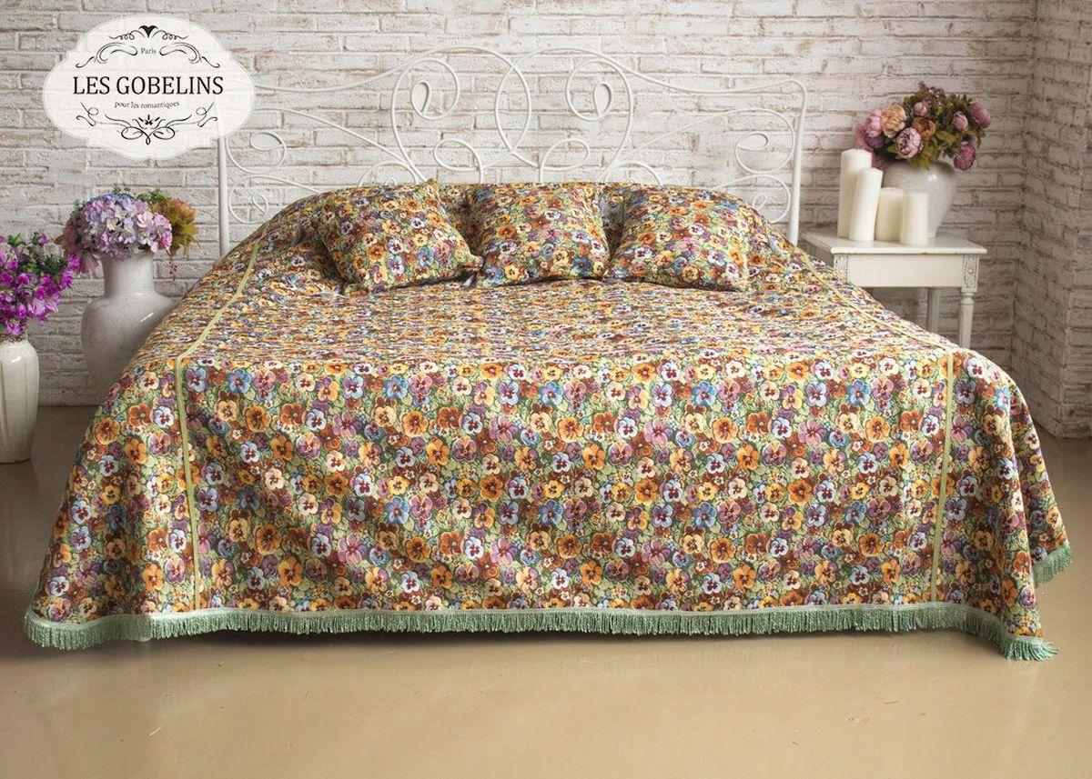 Покрывало на кровать Les Gobelins Fleurs De Jardin, 240 х 260 см покрывало на кресло les gobelins fleurs de jardin 50 х 120 см