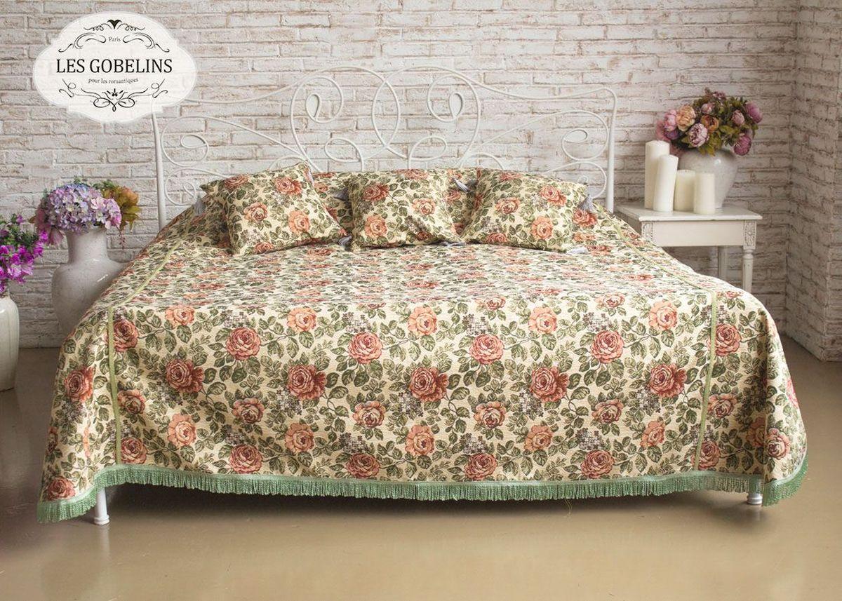 Покрывало на кровать Les Gobelins Art Floral, 260 х 240 см покрывало на кресло les gobelins mexique 50 х 120 см