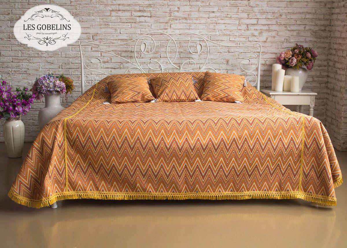 """Покрывало на кровать Les Gobelins """"Zigzag"""", цвет: коричневый, 260 х 240 см"""
