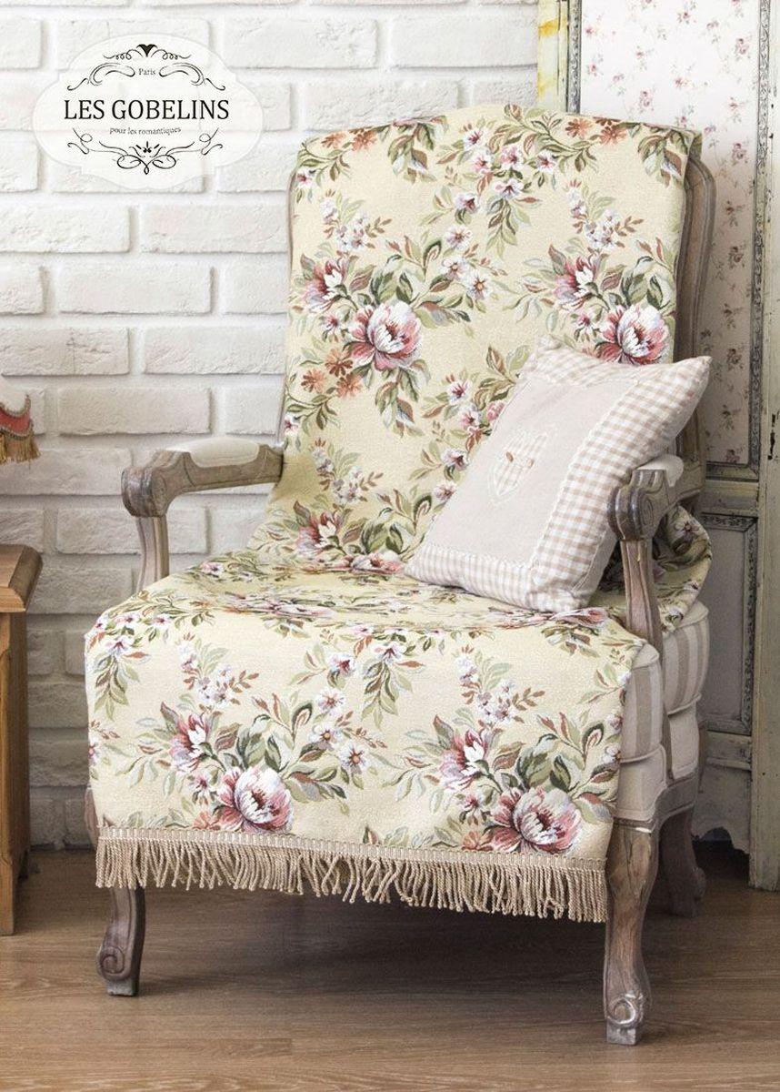 Покрывало на кресло Les Gobelins Pivoines Aquarelles, 50 х 120 см покрывало на кресло les gobelins cleopatra 50 х 120 см
