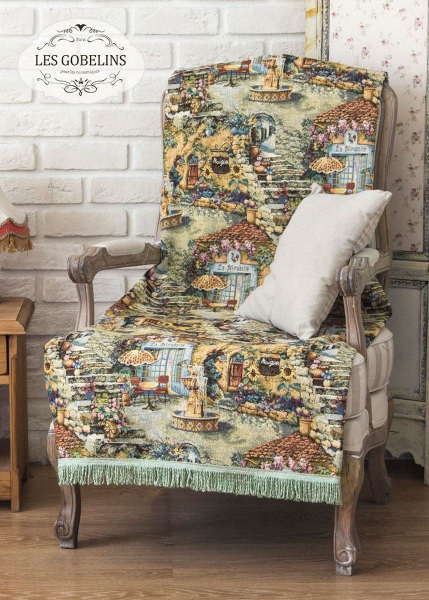 Покрывало на кресло Les Gobelins Jardin D'Eden, 50 х 120 см покрывало на кресло les gobelins fleurs de jardin 50 х 120 см