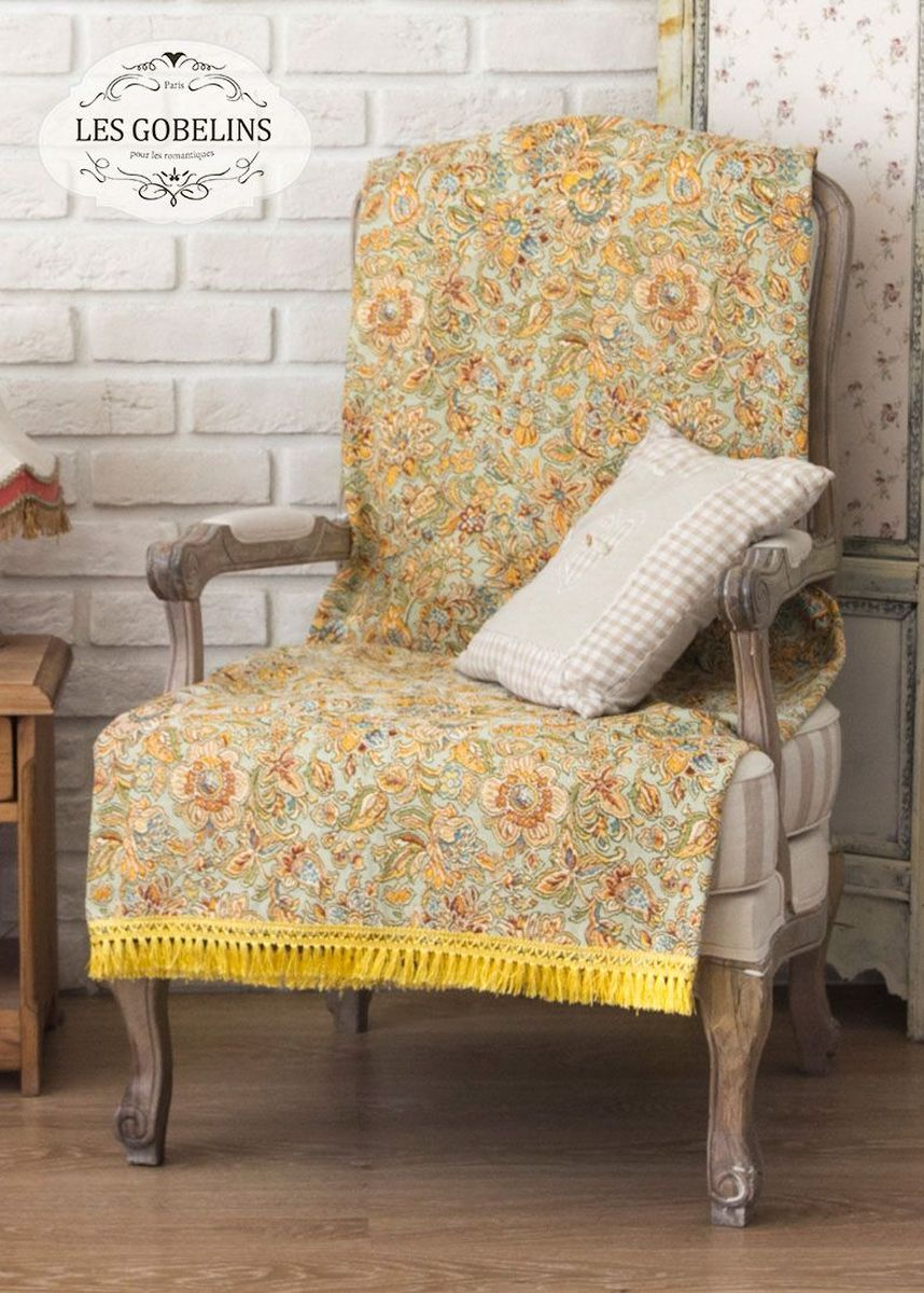 Покрывало на кресло Les Gobelins Vitrail De Printemps, 50 х 120 см покрывало на кресло les gobelins fleurs de jardin 50 х 120 см