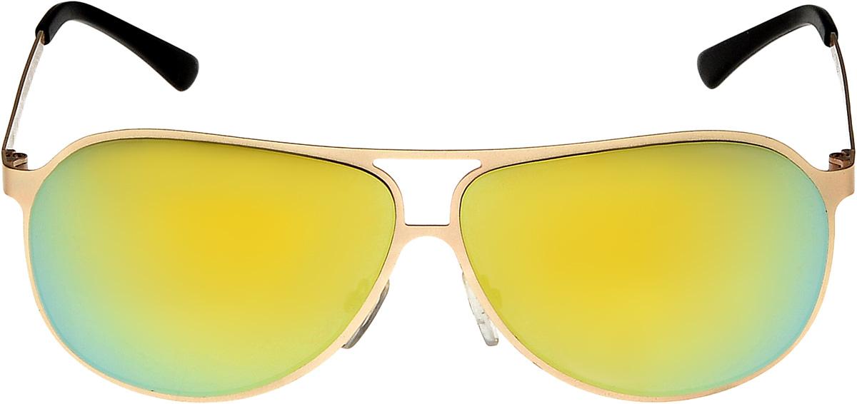 купить Очки солнцезащитные мужские Vita Pelle, цвет: золотистый, зеленый. ОС1003с1/17f по цене 1157 рублей
