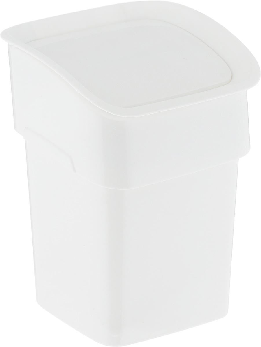 Контейнер для мусора Tescoma Clean. Kit, настольный, цвет: белый, 2,4 л контейнер для мусора tescoma clean kit настольный цвет белый 2 4 л