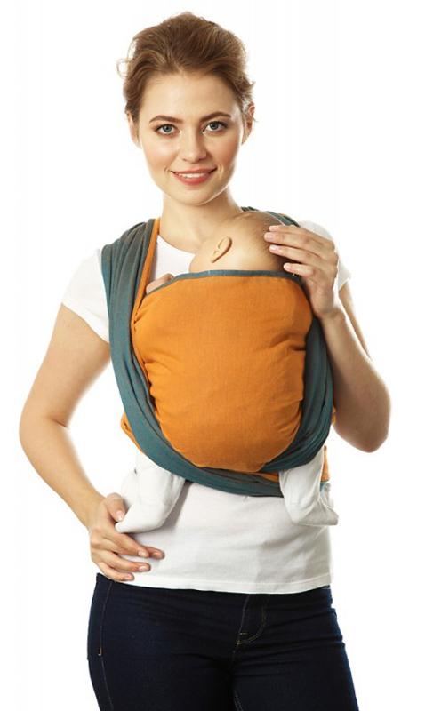 Mum's Era Слинг-шарф Casual цвет long цвет деним оранжевый