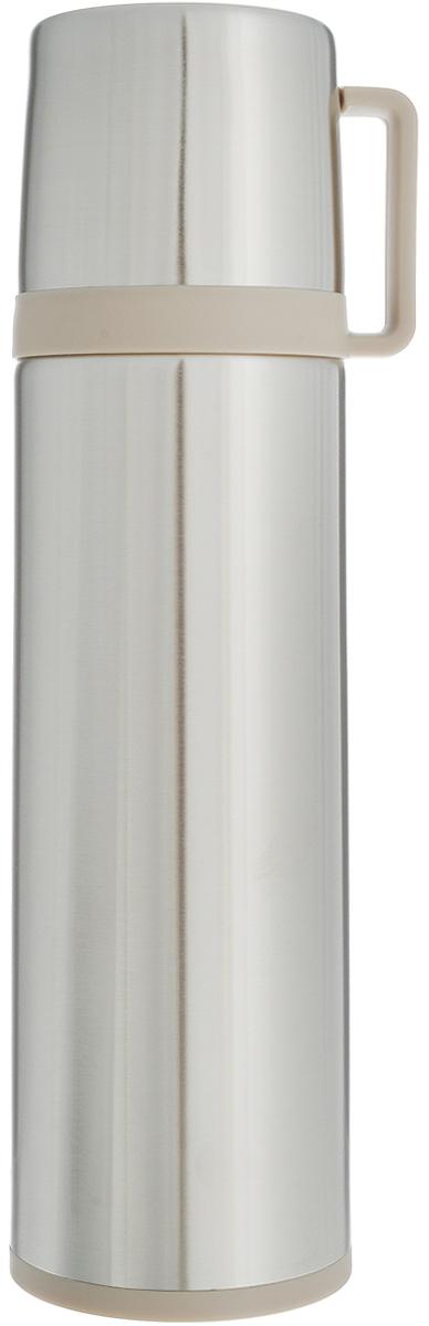 Термос Tescoma Constant, с крышкой-кружкой, цвет: стальной, бежевый, 0,7 л термос с кружкой tescoma family 0 5 л 310564