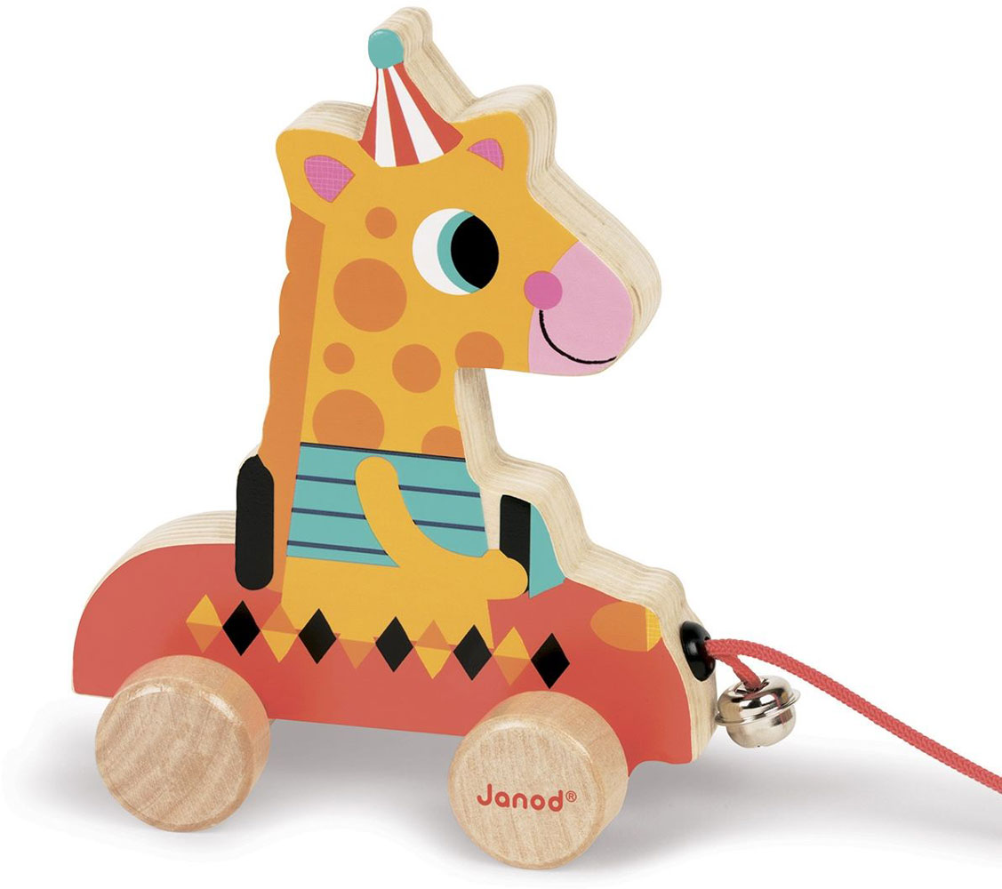 Janod Каталка на веревочке Жирафик