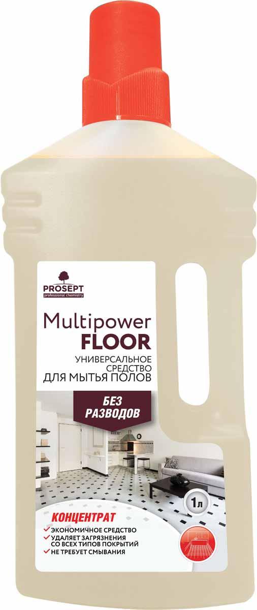 Фото - Средство для мытья полов Prosept Multipower Floor, универсальное, концентрат, 1 л Уцененный товар (№2) моющее средство для бани и сауны prosept multipower wood 1 л