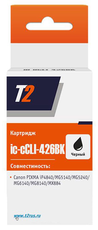 T2 IC-CCLI-426BK (аналог CLI-426BK) картридж для Canon PIXMA iP4840/MG5140/MG6140/MG8140/MX884, Black джемпер gas р xxs int