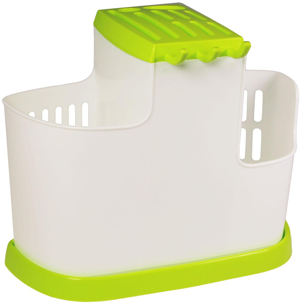 Органайзер кухонный Idea, цвет: салатовый, 19 х 25 х 14,5 см органайзер для специй idea цвет белый 6 х 16 х 16 см