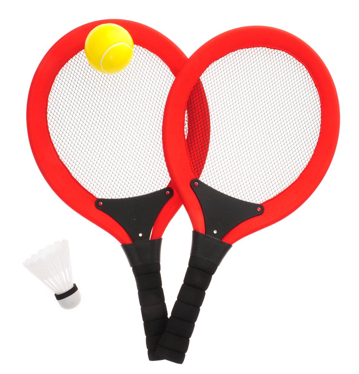 Abtoys Игровой набор 2 в 1 Бадминтон Теннис цвет красный набор бадминтон 2 ракетки 1 волан 57891