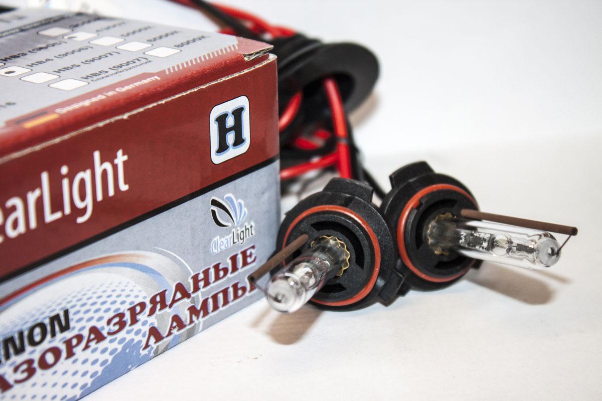 Лампа автомобильная Clearlight, ксеноновая, для фар, цоколь HB4 9006, 5000K, 35 Вт, 2 шт лампа ксеноновая clearlight d1s 5000k без проводов