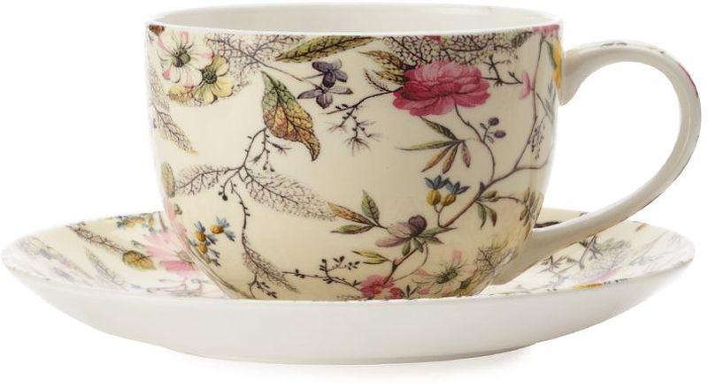 Чашка с блюдцем Maxwell & Williams Летние цветы, 250 мл