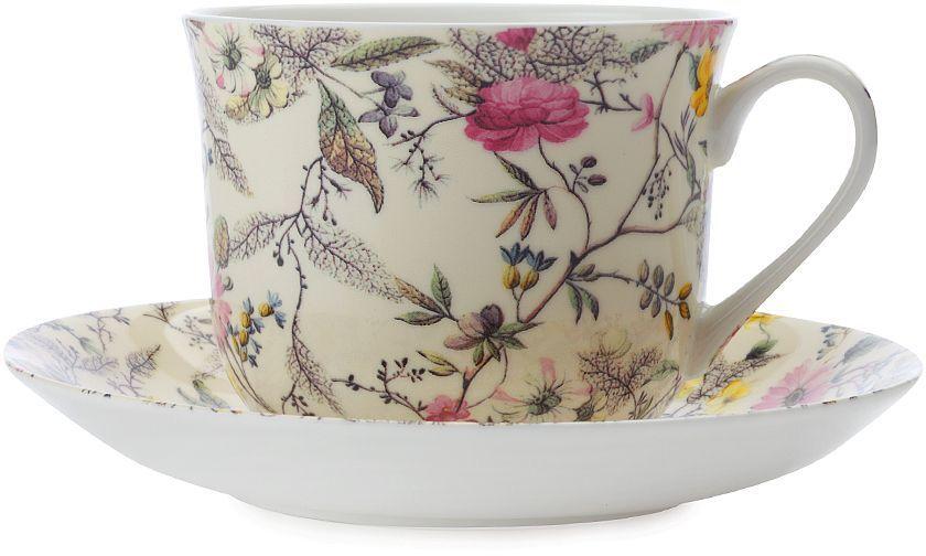Фото - Чашка с блюдцем Maxwell & Williams Летние цветы, 480 мл [супермаркет] jingdong геб scybe фил приблизительно круглая чашка установлена в вертикальном положении стеклянной чашки 290мла 6 z