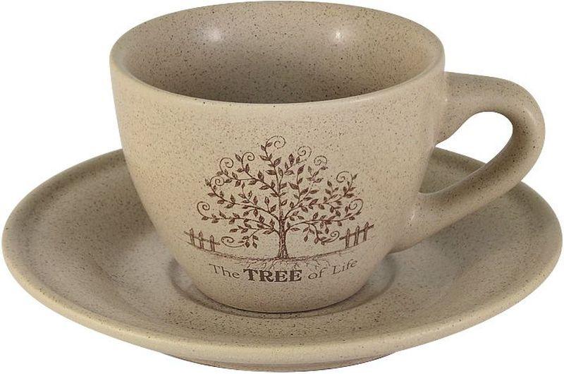 "Чашка с блюдцем Terracotta ""Дерево жизни"", 200 мл"