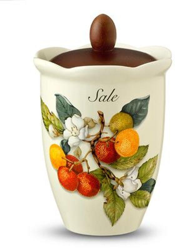 Банка для сыпучих продуктов Nuova Cer Итальянские фрукты. Соль, 800 мл банка для сыпучих продуктов nuova cer итальянские фрукты сахар 800 мл