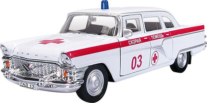 Autotime Модель автомобиля Чайка Скорая помощь autotime модель автомобиля uaz 39625 гражданская